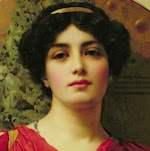 Sappho, 1903 (oil on canvas) by John William Godward